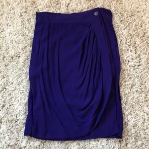 Navy blue wrap around skirt WITH POCKET
